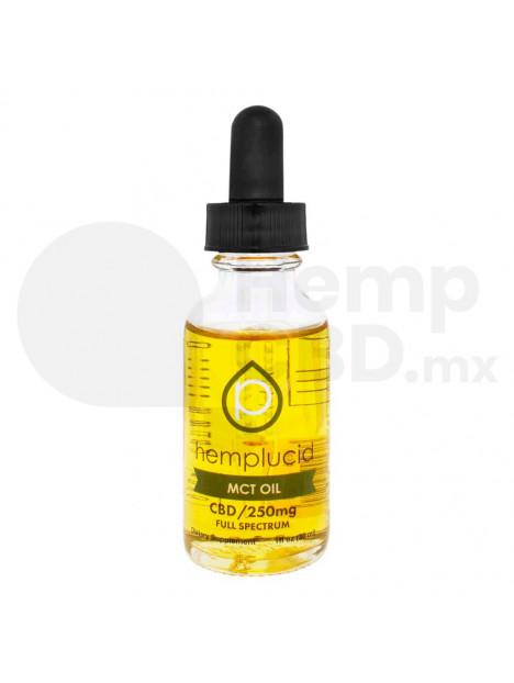 Aceite de CBD Hemplucid MCT Oil (Aceite MCT) Gotero 30ml. 250mg